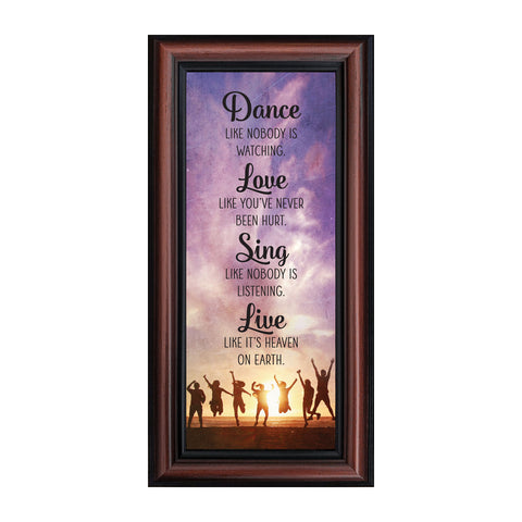 Dance Like Nobody is Watching, Mark Twain Motivational Wall Art, Inspiring Picture Frame, 6x12, 7428