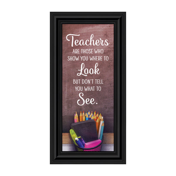Thank You Teacher Gifts, Elementary Teacher Appreciation, Nanny, Babysitter, Pre-School or Daycare Worker Gift, 6x12, 7429