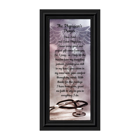 Doctor Gifts, Gifts for Medical School Graduation, Doctor Thank You Gift, Gifts for Doctors Office, Medical Doctor Gifts for Women or Doctor Gifts for Men, A Physician Prayer Framed Poem, 7434