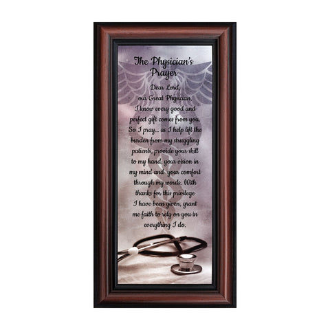 A Physicians Prayer, Personalized Doctor Picture Frame,  A Great Gift for Doctor, 6x12 7434