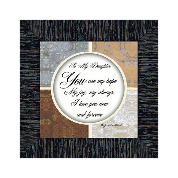 To My Daughter, Picture Frame Gift from Mom to Daughter, 6X6 75502