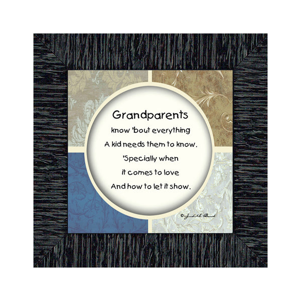 Grandparent's Day Gift, Picture Framed Poem from Grandchild, 6x6 75505