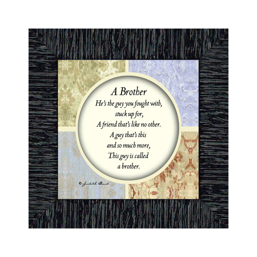 A Brother, Gift for Brother, Brothers Picture Frame, 6x6 75510