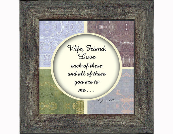 Wife, Gift for Wife, Picture Frames for Her, 6x6 75511