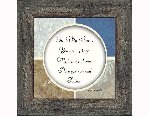To My Son, Gift for Son from Mom or Dad Picture Frame, 6x6 75512