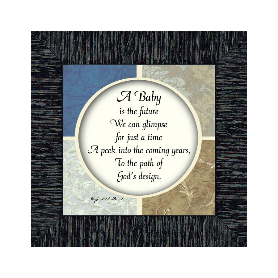 A Baby, Newborn Gifts, Baby Framed Poem, 6x6 75513