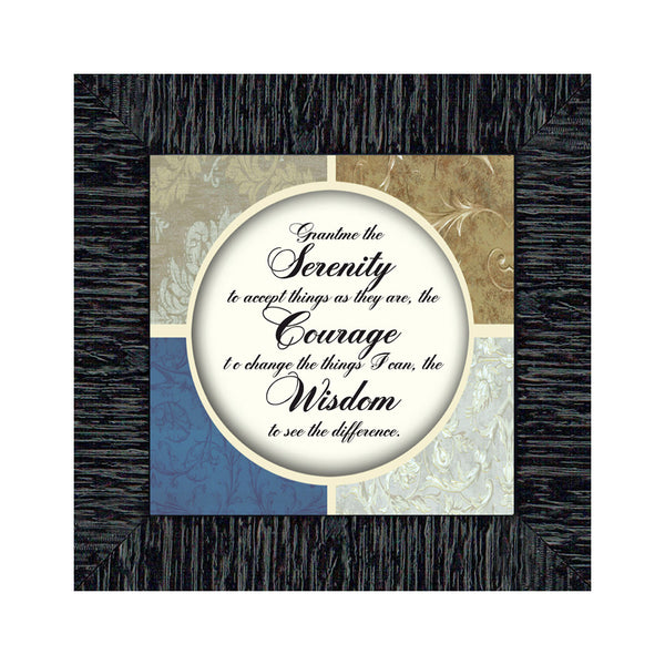 Serenity, Serenity Prayer Wall Décor, Prayer Framed Wall Art, 6x6 75514