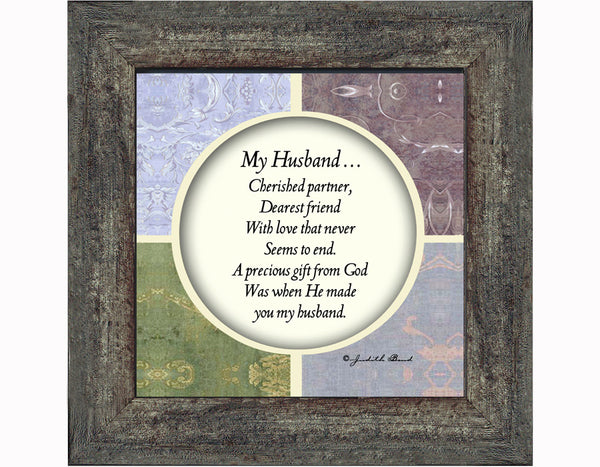 My Husband, Gift For Husband From Wife Anniversary, Picture Frame For Men, 6x6 75517