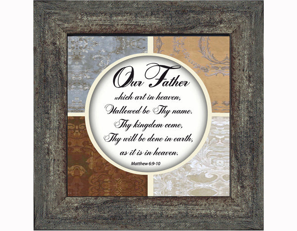 Lord's Prayer, Lords Prayer Wall Art, Prayer Gifts, 6x6 75530Bayer, 6x6 75530