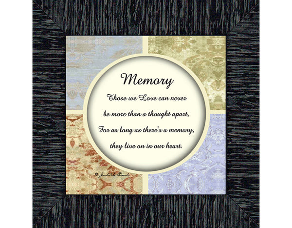 In Memory of Loved One, Sympathy or Condolence Gift, 6x6 75532