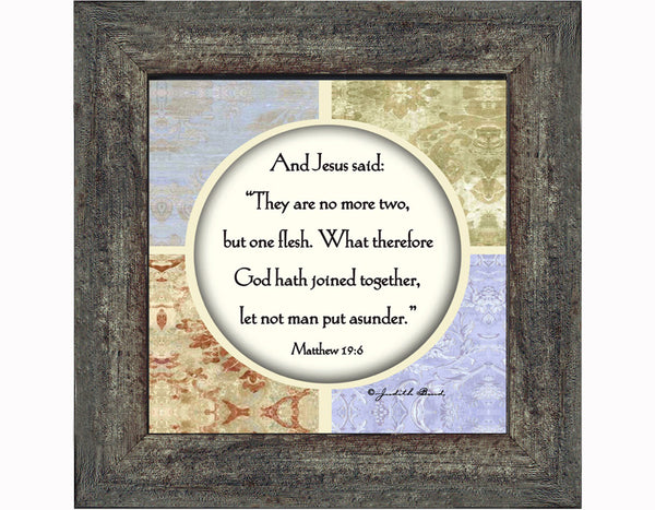 Framed Marriage Prayer with Scripture, Christian Wedding Gift , 6x6 75557
