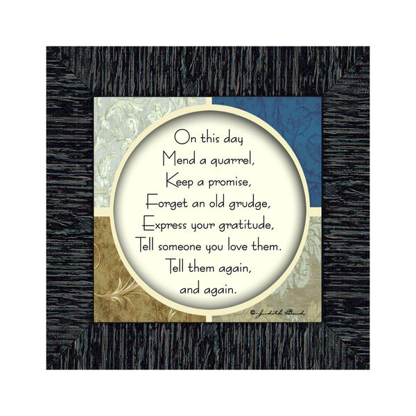 This Day, Inspirational Wall Decorations Work, Wall Plaque With Saying, 6x6 75560