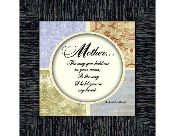 Mother, Gift from Son or Daughter for Mom on Mother's Day, Picture Framed Poem for Mom, 6x6 75567