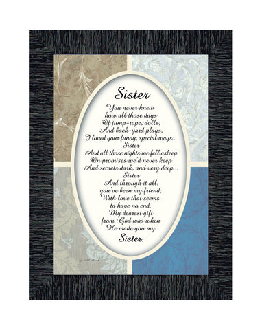 Sister, Sister Picture Frame, Sister Gifts from Sister, 7x9 77909