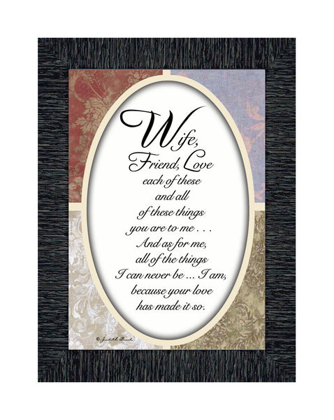 Wife Friend Love, Romantic Gift for Wife, Picture Frame,  7x9 77911