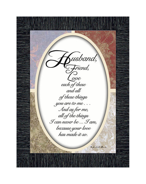 My Husband, Gift For Husband From Wife for Anniversary, Picture Frame For Men, 7x9 77917
