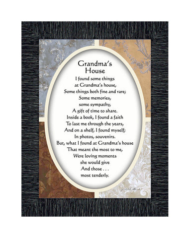 Grandmas House, Grandparents Sign, Great for Grandparents Gift, 7x9 77924