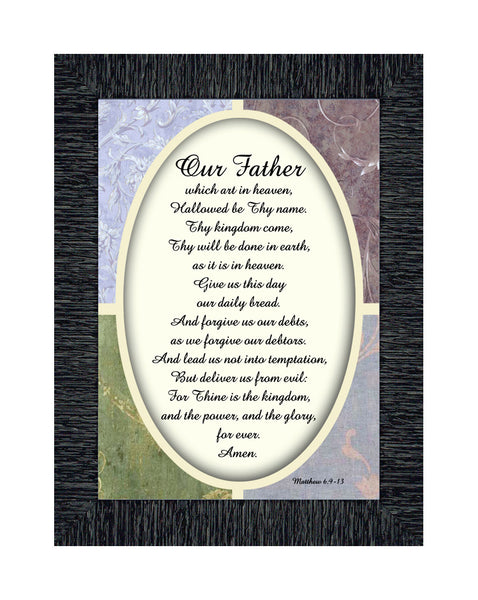 Lord's Prayer, The Lords Prayer Wall Decor, Bible Verses Wall Décor, 7x9 77930