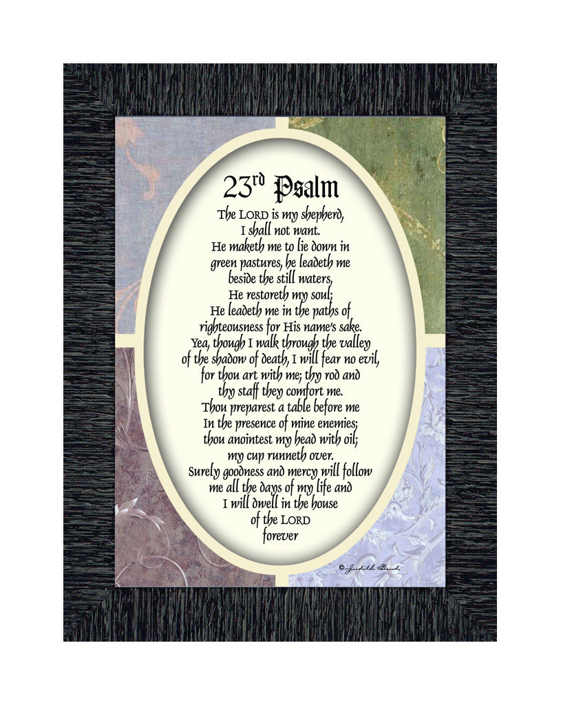23rd Psalm, Framed Bible Verse from Psalms, Comfort and Encouragement for the Hurting, 7x9 77931
