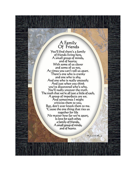A Family of Friends, Poem Showing the Love Between a Close Group of Friends or Family, 5x7, 77943