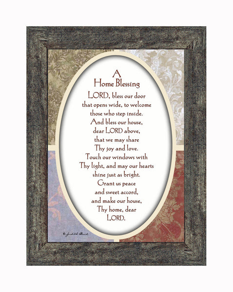 A Home Blessing for a New House or Homeowners, God Bless this Home Picture Frame, 7x9 77959