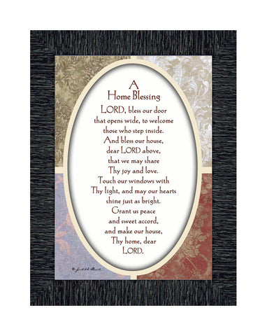 A Home Blessing, Poem asking the Lord for blessing over your home, 7x9 77959