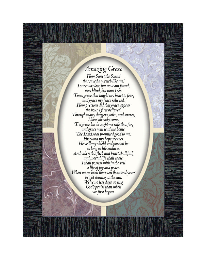 Amazing Grace, Great Hymns of the Faith, Picture Frame, 7x9 77987