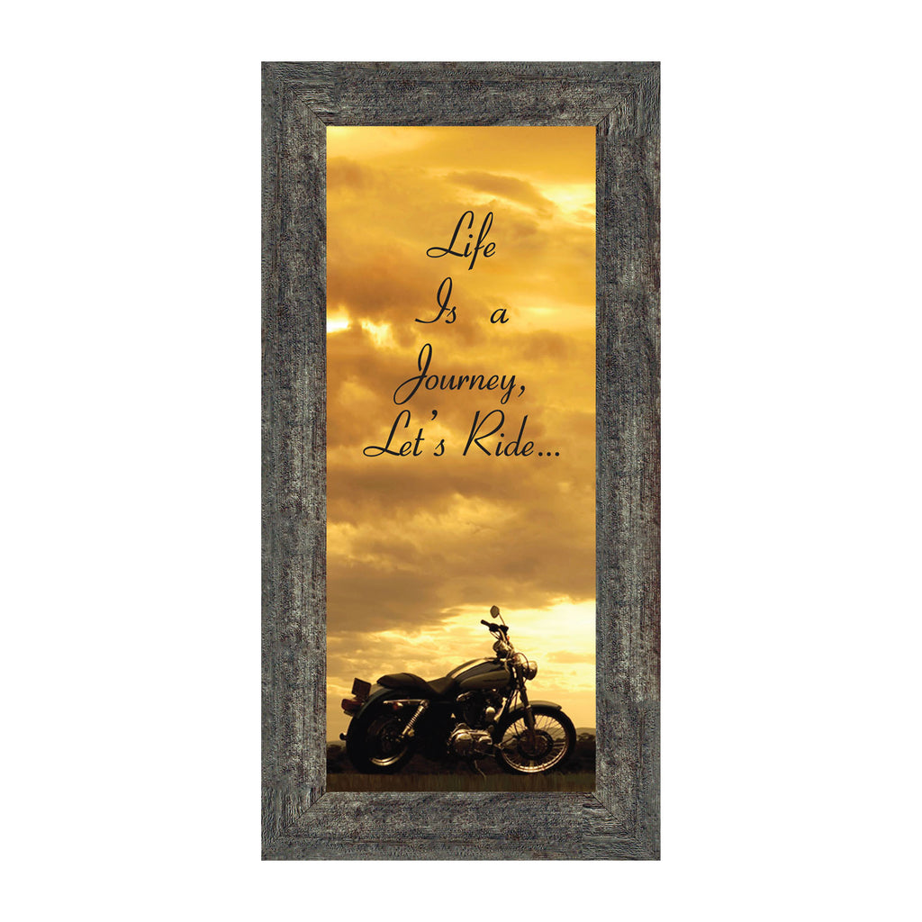 Life's a Journey, Gifts for Motorcycle Riders, Harley Davidson Photo Frame, 6x12 7850BC