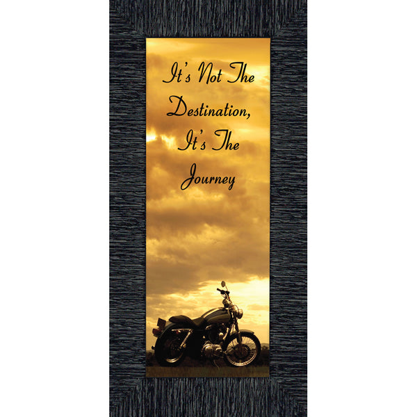 It's Not the Destination, Classical Motorcycle Photo Frame, 6x12 7860