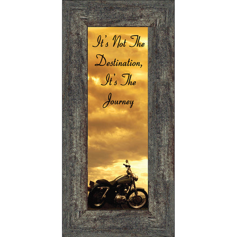 It's Not the Destination, Motorcycle Gifts for Men, Harley Davidson Photo Frame, 6x12 7860