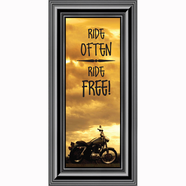 Ride Often and Ride Free, Motorcycle Gifts for Men, Classical Motorcycle Photo Frame, 6x12 7863