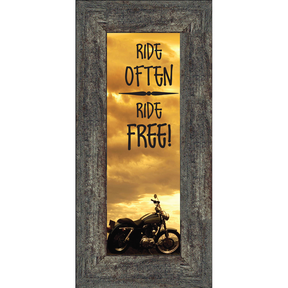 Ride Often and Ride Free, Motorcycle Gifts for Men, Harley Davidson Photo Frame, 6x12 7863BC