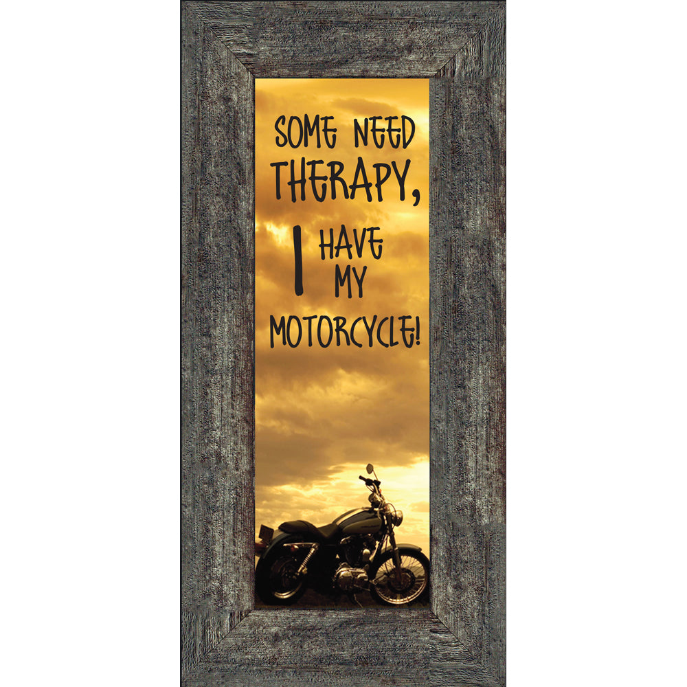 Some Need Therapy, Gifts for Motorcycle Riders, Motorcycle Picture Frame, 6x12 7869BC