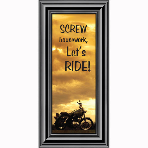Screw Housework, Classical Motorcycle Photo Frame, Gifts for Motorcycle Riders, 6x12 7870