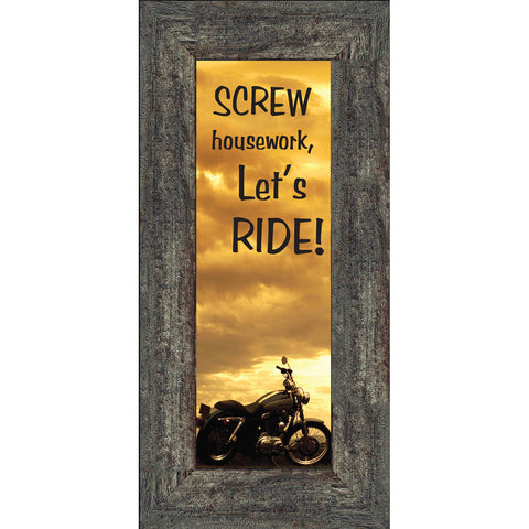 Screw Housework, Harley Davidson Photo Frame, Gifts for Motorcycle Riders, 6x12 7870BC