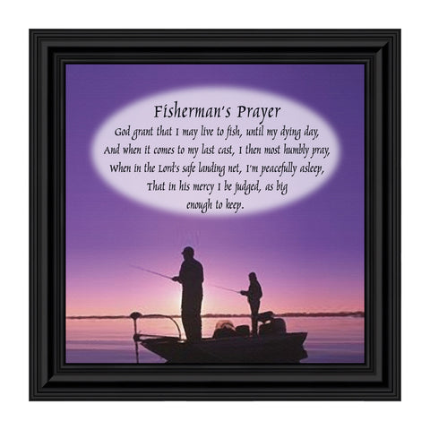 A Fisherman's Prayer, Beach, Boating or Fishing Decor, Picture Frame, 8x8, 8501