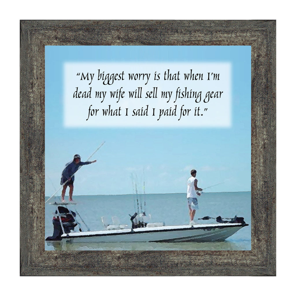 Funnly Fisherman's Picture Frame