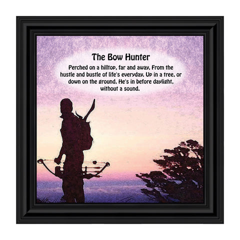 Bow Hunters Prayer, Hunting, Gaming with Crossbow Picture Frame, 10x10 8504
