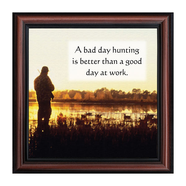 Bird Hunter, Hunting Pheasant or Duck Picture Frame, 10x10  8505