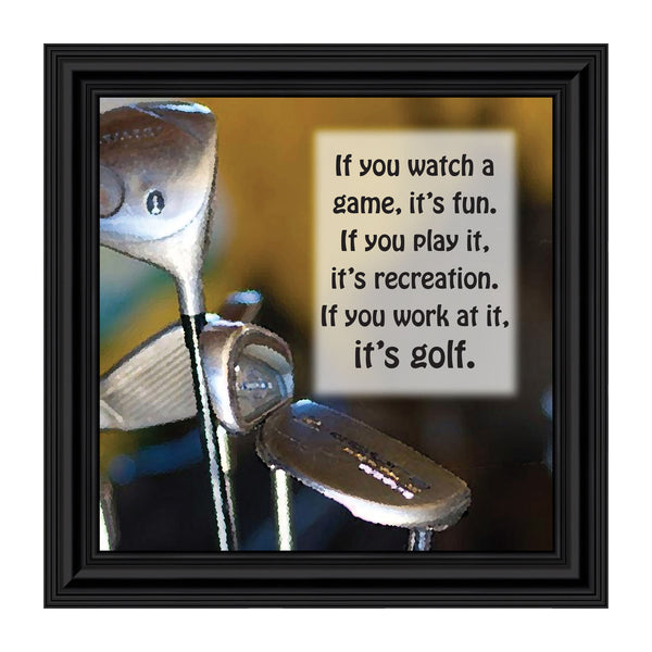 Golf, Funny Golf Gifts for Men and Women, Picture Framed Poem, 10X10 8511