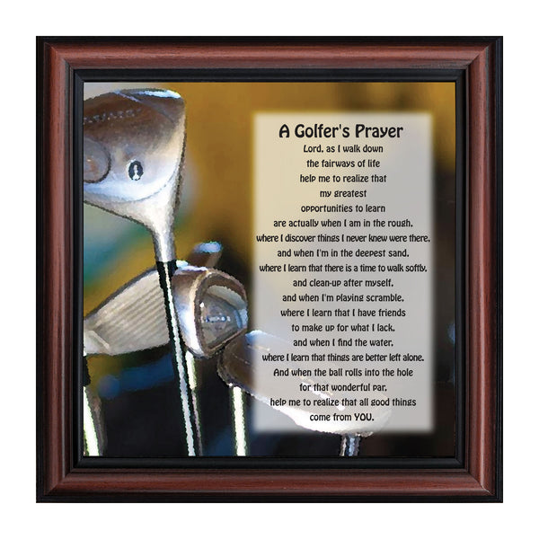 A Golfers Prayer Picture Frame