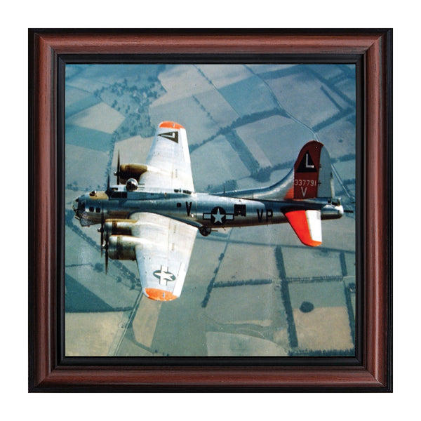 Boeing B-17 Flying Fortress Plane, Aviation Picture Frame, 10x10 8514