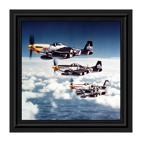 P-51 Mustang Fighters, Aviation Picture Frame, 10x10 8516