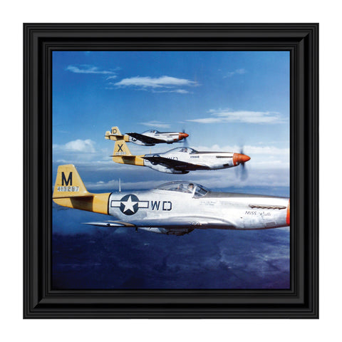 P-51 Mustang Fighters, Aviation Picture Frame, 10x10 8517