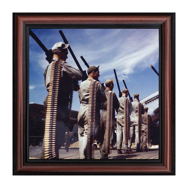 Historically Yours P-51 Mustang Fighter's Guns and Ammunition, Aviation Picture Frame, 10x10 8518