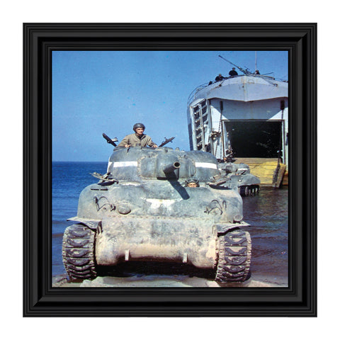 Historically Yours Tank Crew, Army Veteran Gift, Military Framed Wall Decor, 10x10 8520