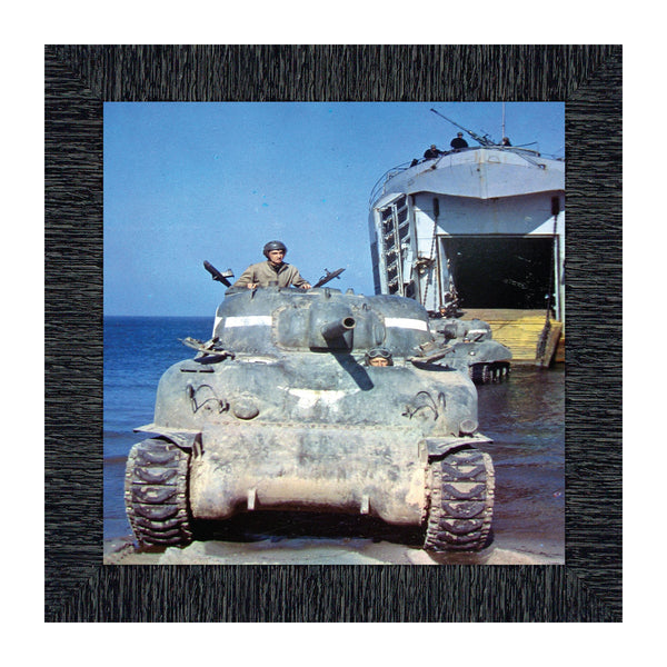 Tank Crew, Army Veteran Gift, Military Framed Wall Decor, 10x10 8520