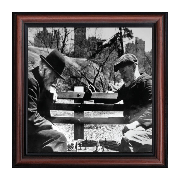 Vintage Chess Players, Custom Gameboard, Historical Picture Frame, 10x10 8529