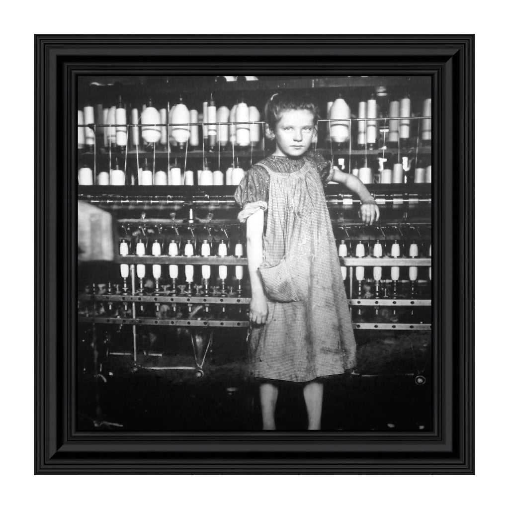 Cotton Mill Girl, Vintage Gifts, Historical Picture Frame, 10x10 8532
