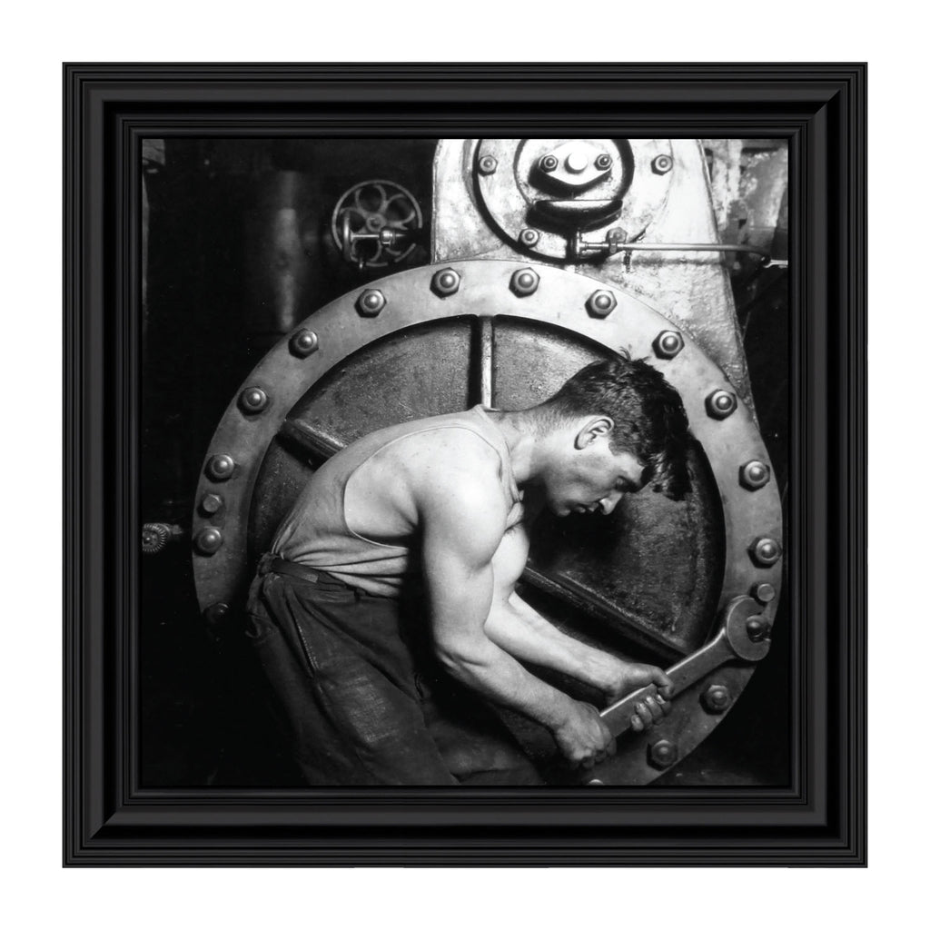 Factory Laborer, Vintage Images, Historical Picture Frame, 10x10 8540